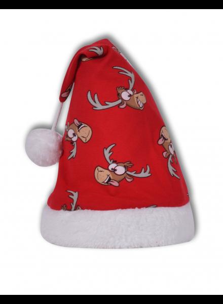 Woody Kerstmuts rendier rood