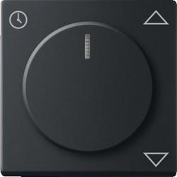 Busch-Jaeger draaiknop  jaloeziecomfortsokkel Future Linear zwart mat (6436-885)
