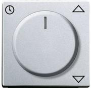 Busch-Jaeger draaiknop jaloeziecomfortsokkel Future Linear aluzilver  (6436-83)