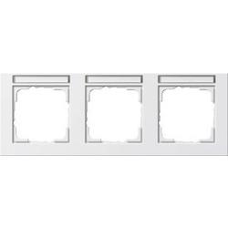 GIRA afdekraam 3-voudig horizontaal tekstkader E2 wit mat (109322)