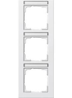 GIRA afdekraam 3-voudig verticaal tekstkader E2 wit mat (110322)