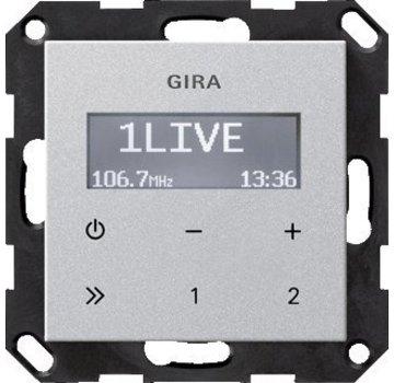 GIRA inbouwradio RDS Systeem 55 aluminium mat (228426)