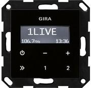 GIRA inbouwradio RDS Systeem 55 zwart glas (228405)