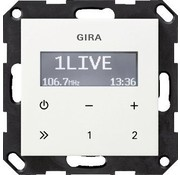 GIRA inbouwradio RDS Systeem 55 wit glans (228403)
