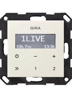 GIRA inbouwradio RDS Systeem 55 creme glans (228401)