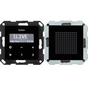 GIRA inbouwradio RDS zwartglaslook met luidspreker Systeem 55 zwart glas (228005)
