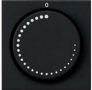 GIRA draaiknop toerentalregelaar Systeem 55 zwart mat (0652005)
