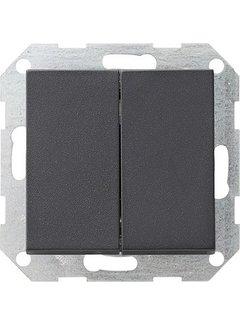 GIRA drukvlakschakelaar rechtstaand serieschakelaar Systeem 55 antraciet mat (286028)