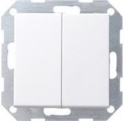 GIRA drukvlakschakelaar rechtstaand serieschakelaar Systeem 55 wit mat (286027)