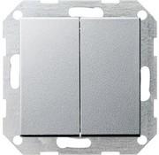 GIRA drukvlakschakelaar rechtstaand serieschakelaar Systeem 55 antraciet mat (286026)