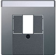 GIRA centraalplaat USB / luidspreker tekstkader Systeem 55 edelstaal (0876600)