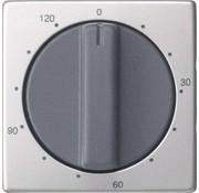 GIRA draaiknop tijdschakelaar 120 minuten Systeem 55 edelstaal (0642600)