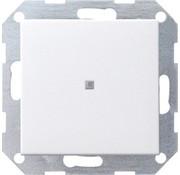 GIRA drukvlakschakelaar rechtstaand controleverlichting 1-polig Systeem 55 wit mat (012427)