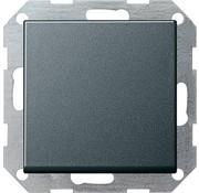 GIRA drukvlakschakelaar rechtstaand kruisschakelaar Systeem 55 antraciet mat (012328)