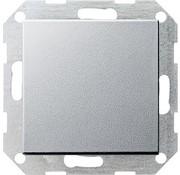 GIRA drukvlakschakelaar rechtstaand kruisschakelaar Systeem 55 aluminium mat (012326)
