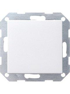 GIRA drukvlakschakelaar rechtstaand wisselschakelaar Systeem 55 wit mat (012127)