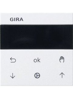 GIRA jaloezie- en schakelklok knop met display Systeem 3000 Systeem 55 wit mat (536627)