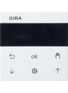 GIRA jaloezie- en schakelklok knop met display Systeem 3000 Systeem 55 wit glans (536603)