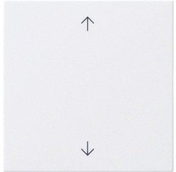 GIRA jaloezie/tastdimmerknop met pijlen Systeem 3000 Systeem 55 wit glans (536103)