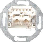 GIRA RJ45 data wandcontactdoos CAT3 2-voudig enkel bedraad (018700)