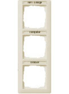 GIRA afdekraam 3-voudig verticaal tekstkader Standaard 55 creme glans (110301)