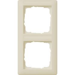 GIRA afdekraam 2-voudig verticaal tekstkader Standaard 55 creme glans (110201)