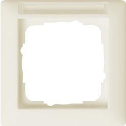 GIRA afdekraam 1-voudig tekstkader Standaard 55 creme glans (109101)