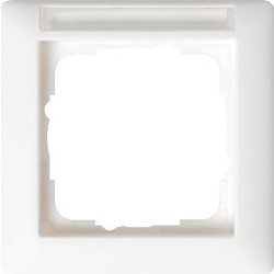 GIRA afdekraam 1-voudig tekstkader Standaard 55 wit mat (109127)