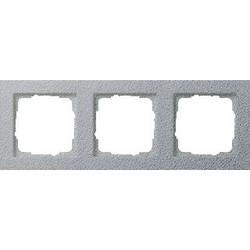 GIRA afdekraam 3-voudig E2 aluminium mat (021325)