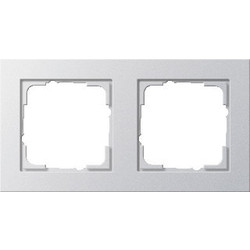 GIRA afdekraam 2-voudig E2 aluminium mat (021225)