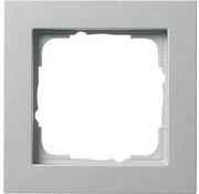 GIRA afdekraam 1-voudig E2 aluminium mat (021125)