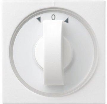 GIRA draaiknop jaloezie- en tijdschakelaar Systeem 55 wit glans (066603)