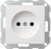 GIRA wandcontactdoos zonder randaarde Systeem 55 wit glans (048003)
