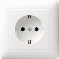 GIRA wandcontactdoos randaarde voor afzonderlijke montage Systeem 55 wit glans (044003)