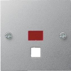 GIRA centraalplaat trekschakelaar controlevenster Systeem 55 aluminium mat (063826)