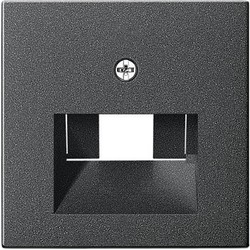 GIRA centraalplaat RJ45 wandcontactdoos 1&2-voudig Systeem 55 antraciet mat (027028)