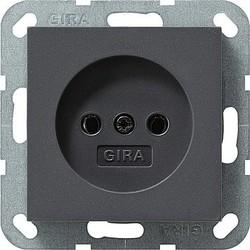 GIRA wandcontactdoos zonder randaarde Systeem 55 antraciet mat (048028)