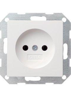 GIRA wandcontactdoos zonder randaarde Systeem 55 wit mat (048027)