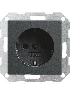 GIRA wandcontactdoos randaarde Systeem 55 antraciet mat (046628)