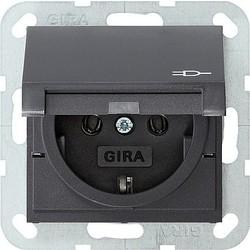 GIRA wandcontactdoos randaarde klapdeksel Systeem 55 antraciet mat (045428)