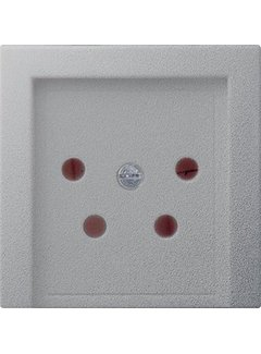 GIRA centraalplaat telefoon KPN 4-polig Systeem 55 aluminium mat (027926)