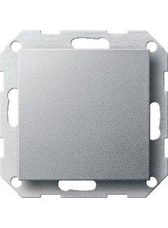GIRA blinddeksel incl. draagframe Systeem 55 aluminium mat (026826)