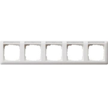 GIRA afdekraam 5-voudig horizontaal tekstkader Standaard 55 wit mat (109527)