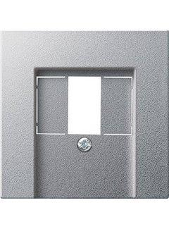 GIRA centraalplaat USB / luidspreker Systeem 55 aluminium mat (027626)