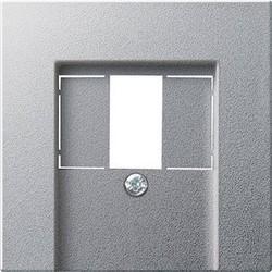 GIRA centraalplaat USB Systeem 55 aluminium mat (027626)
