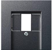 GIRA centraalplaat USB / luidspreker Systeem 55 antraciet mat (027628)