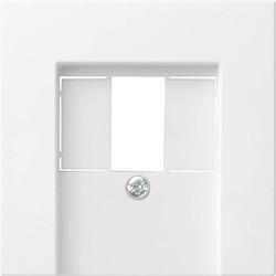 GIRA centraalplaat USB / luidspreker Systeem 55 wit mat (027627)