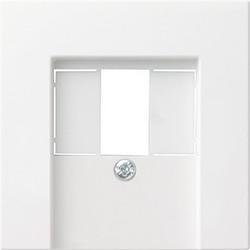 GIRA centraalplaat USB / luidspreker Systeem 55 wit glans (027603)