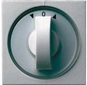 GIRA draaiknop jaloezie- en tijdschakelaar Systeem 55 aluminium mat (066626)