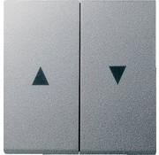 GIRA wip jaloezieschakelaar 2-voudig Systeem 55 aluminium mat (029426)